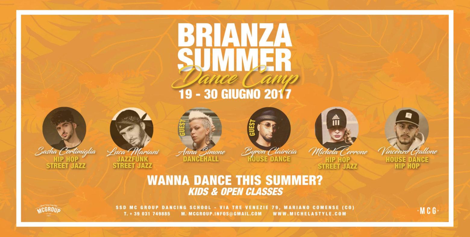 BRIANZA SUMMER DANCE CAMP 2017