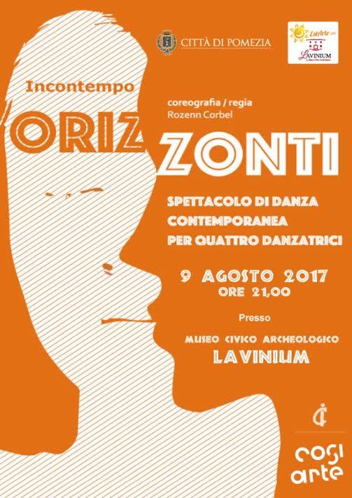 """""""Orizzonti"""" spettacolo della Compagnia Incontempo al Museo Archeologico Lavinium di Pomezia"""
