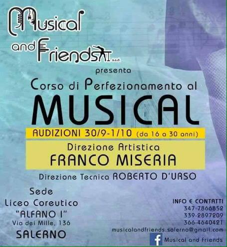 A Salerno arriva il Corso di Perfezionamento al Musical