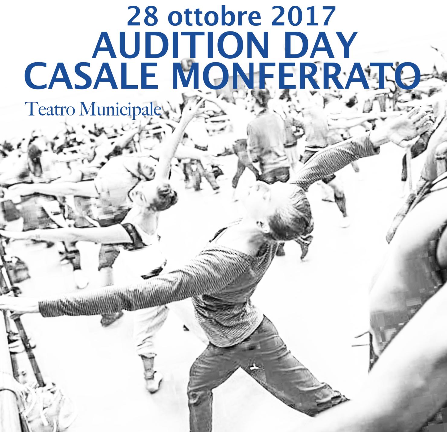 Audition Day. Audizioni per danzatori, cantanti lirici e attori a Casale Monferrato